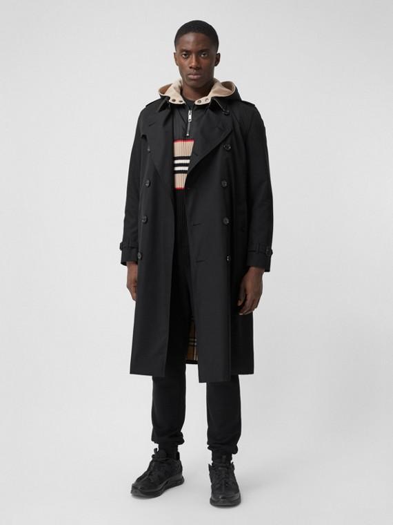 The Long Kensington Heritage Trench Coat in Black