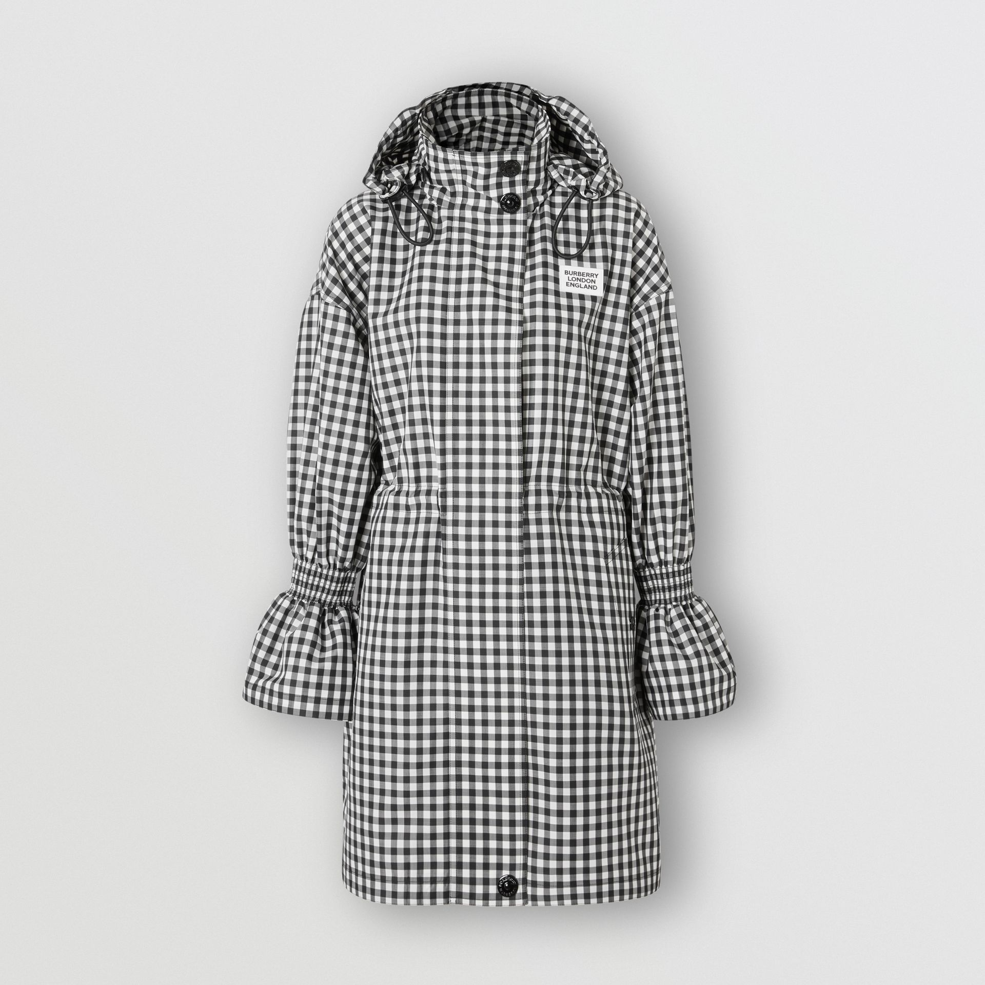 Packaway Hood Gingham Parka - Women | Burberry - gallery image 0