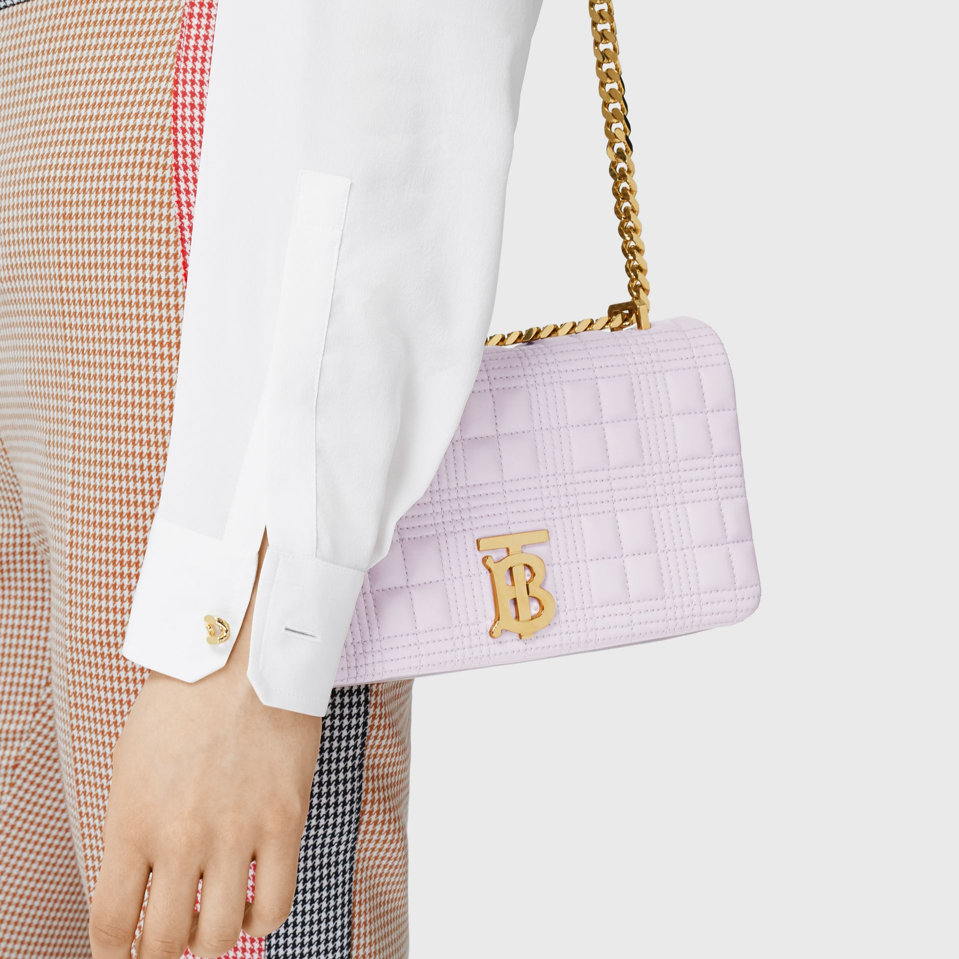 Small Quilted Two-tone Lambskin Lola Bag in Pale Thistle/soft Fawn | Burberry United Kingdom - gallery image 2