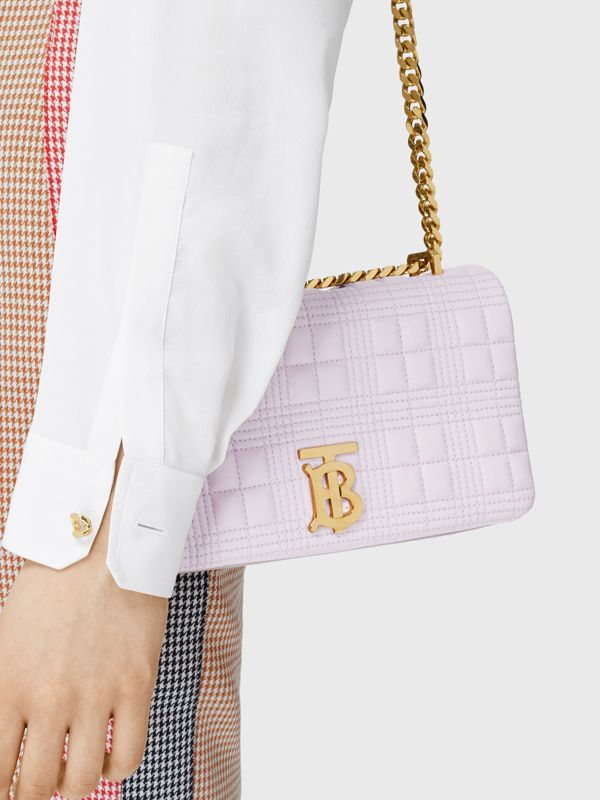 Small Quilted Two-tone Lambskin Lola Bag in Pale Thistle/soft Fawn | Burberry United Kingdom - cell image 2