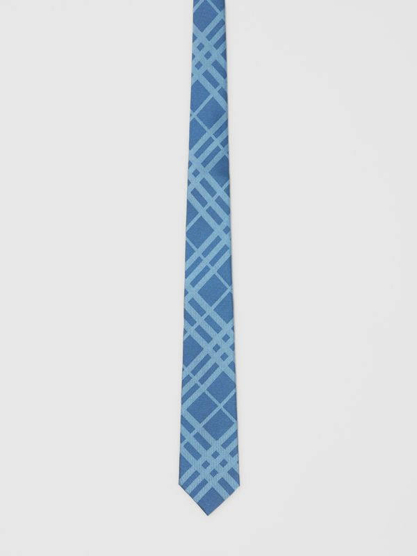 Classic Cut Check Silk Jacquard Tie in Blue Topaz - Men | Burberry - cell image 3