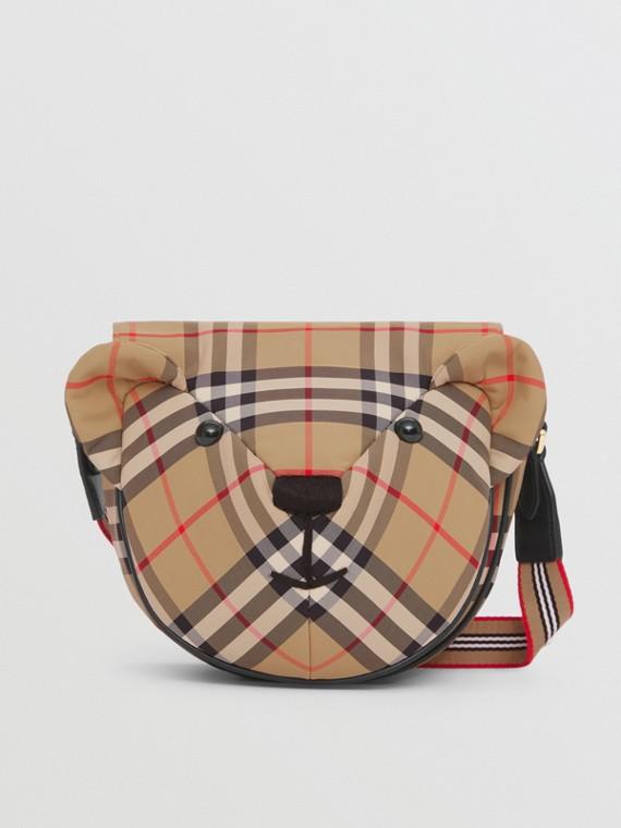 Vintage Check ECONYL® Thomas Bear Bag in Archive Beige