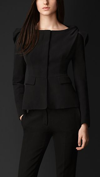 Knotted Shoulder Tailored Jacket