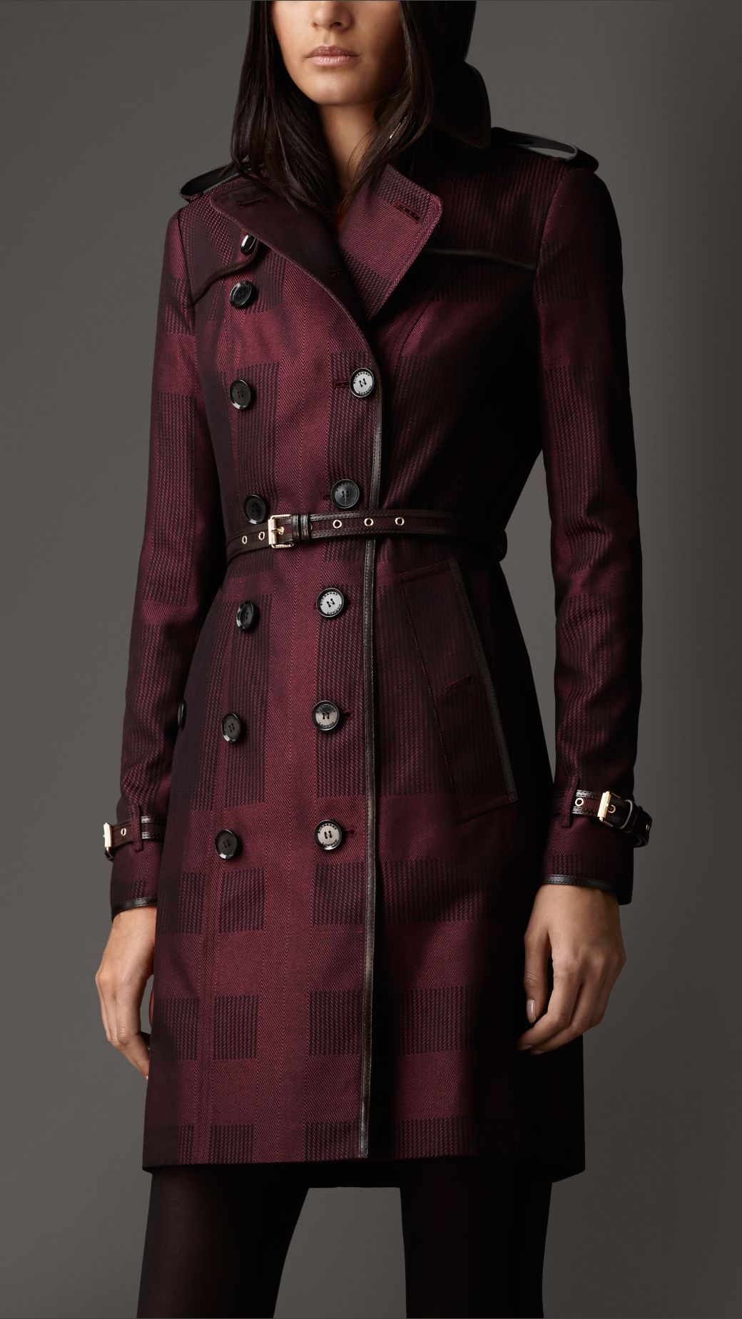 Burberry Long Check Cotton Trench Coat | Burberry Coats