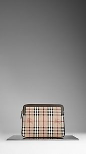 Haymarket Check Crossbody iPad Case