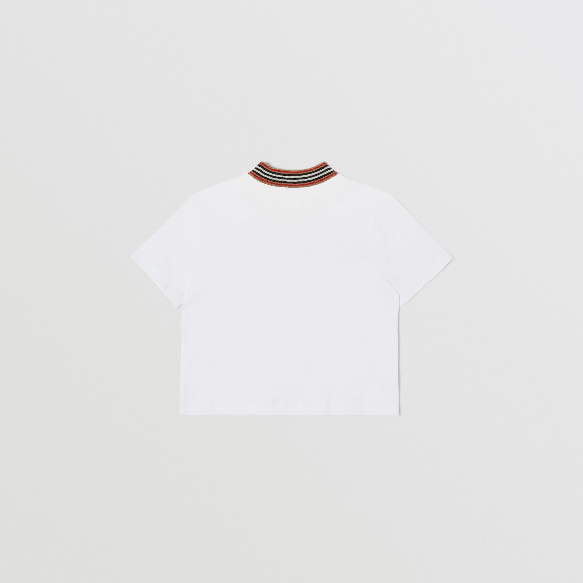 Confectionery Logo Print Cotton T-shirt in White - Children | Burberry - gallery image 4
