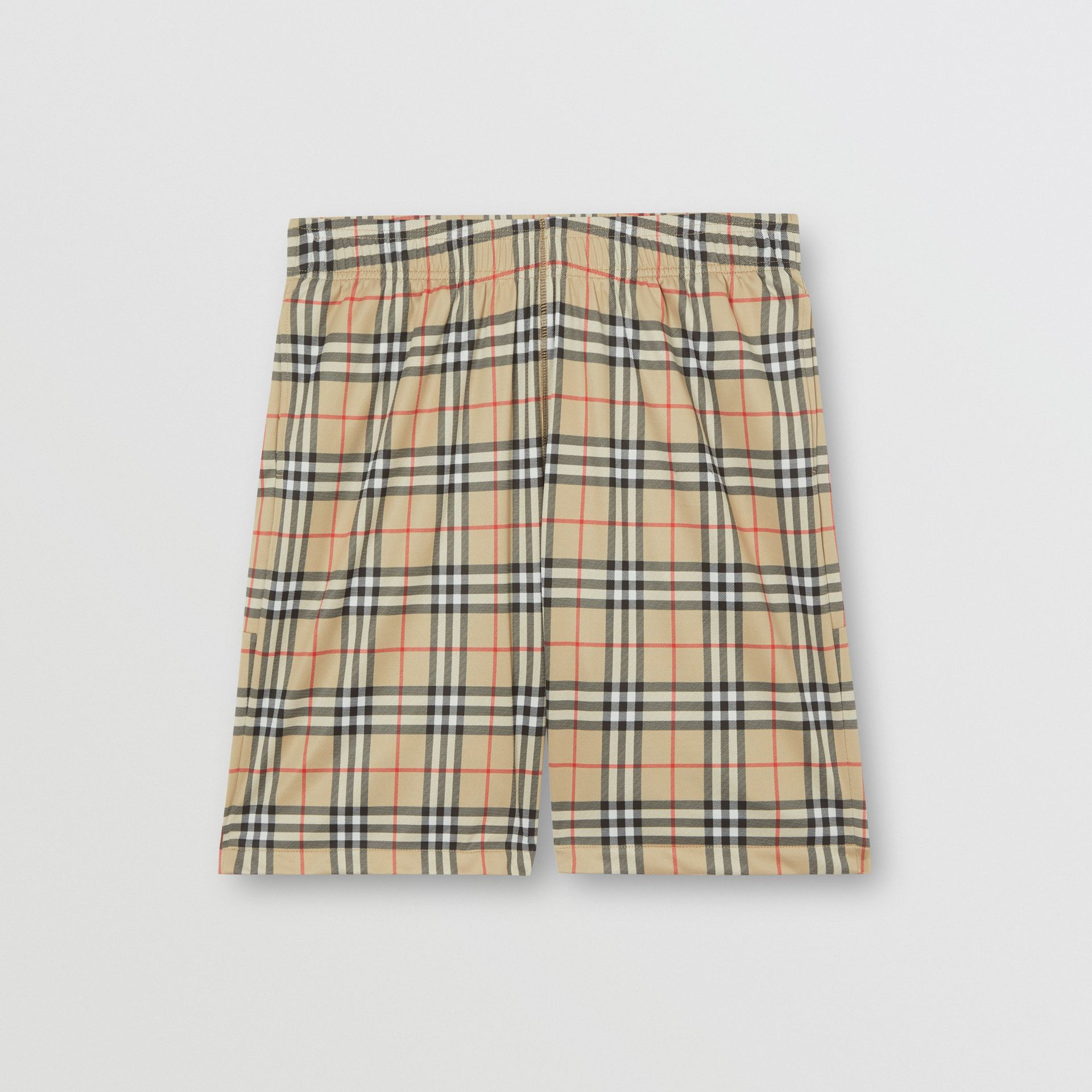Vintage Check Technical Twill Shorts in Archive Beige - Men | Burberry Canada - gallery image 3