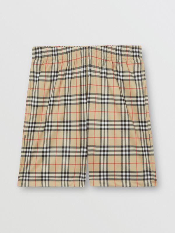 Vintage Check Technical Twill Shorts in Archive Beige - Men | Burberry Canada - cell image 3