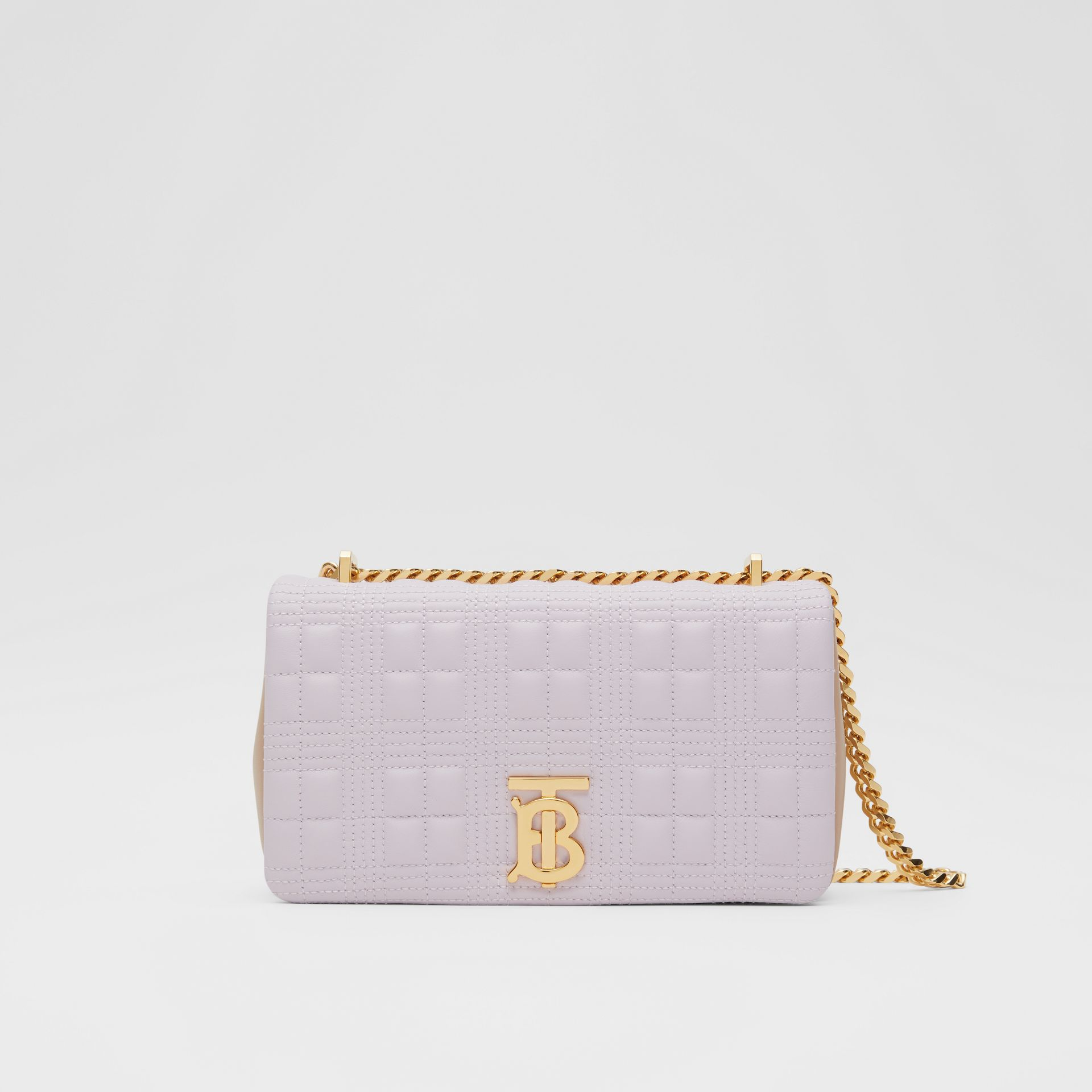 Small Quilted Two-tone Lambskin Lola Bag in Pale Thistle/soft Fawn | Burberry United Kingdom - gallery image 0