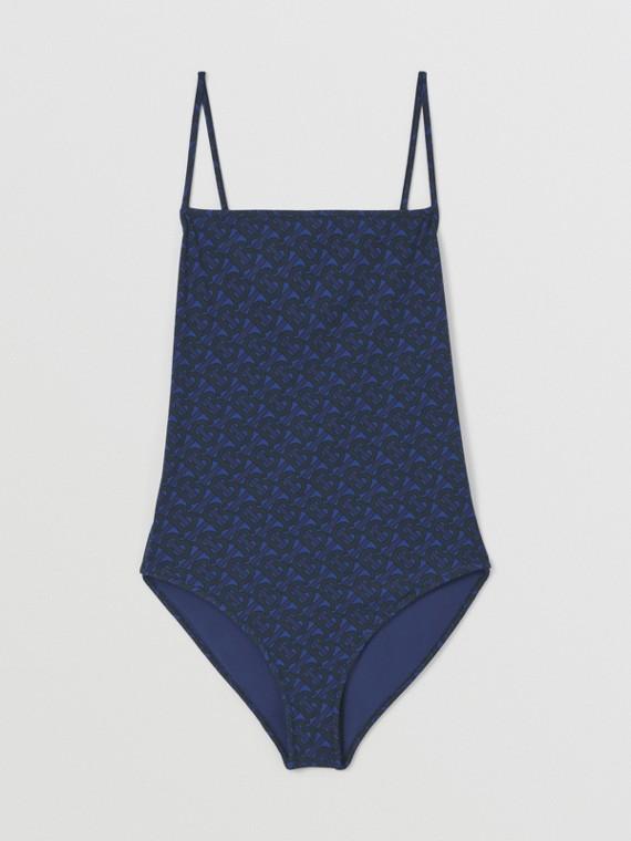 Costume da bagno con stampa monogramma (Blu Reale Scuro)