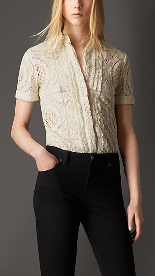 Fitted English Lace Shirt