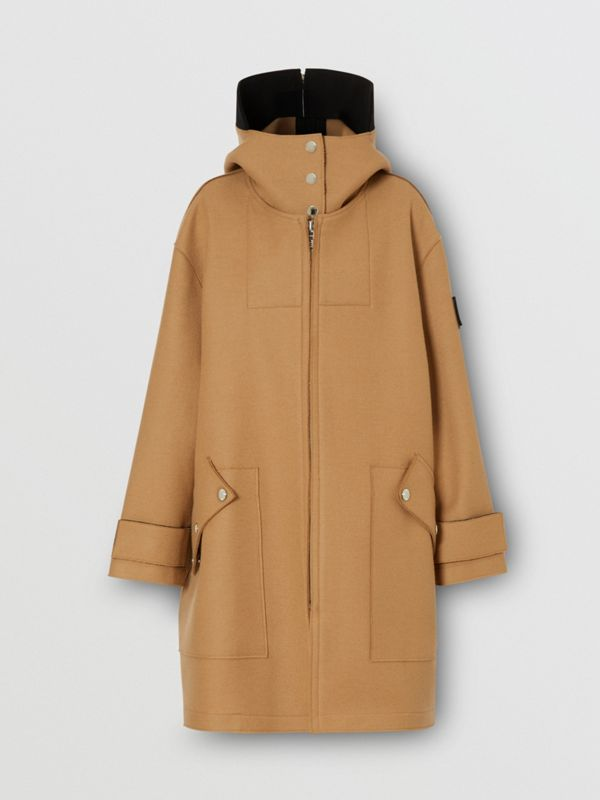 Logo Appliqué Technical Wool Hooded Parka - Women | Burberry United Kingdom - cell image 3