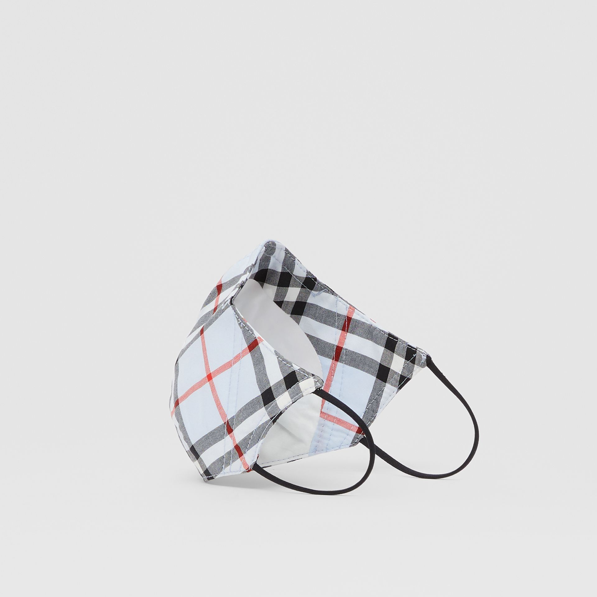 Vintage Check Cotton Face Mask in Pale Blue | Burberry - gallery image 5