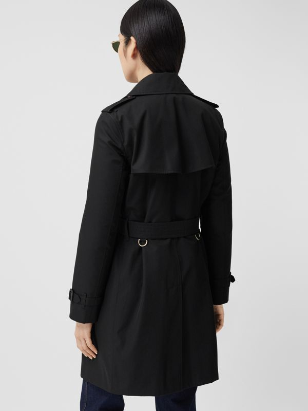 The Short Islington Trench Coat in Black - Women | Burberry - cell image 2