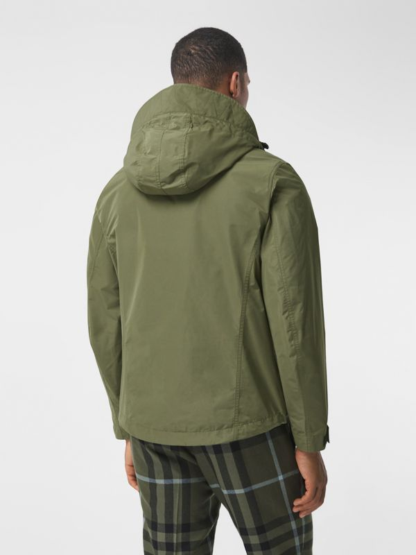 Packaway Hood Shape-memory Taffeta Jacket in Olive - Men | Burberry - cell image 2