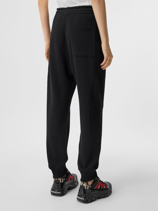 Logo Print Cotton Jogging Pants in Black - Women | Burberry - cell image 2