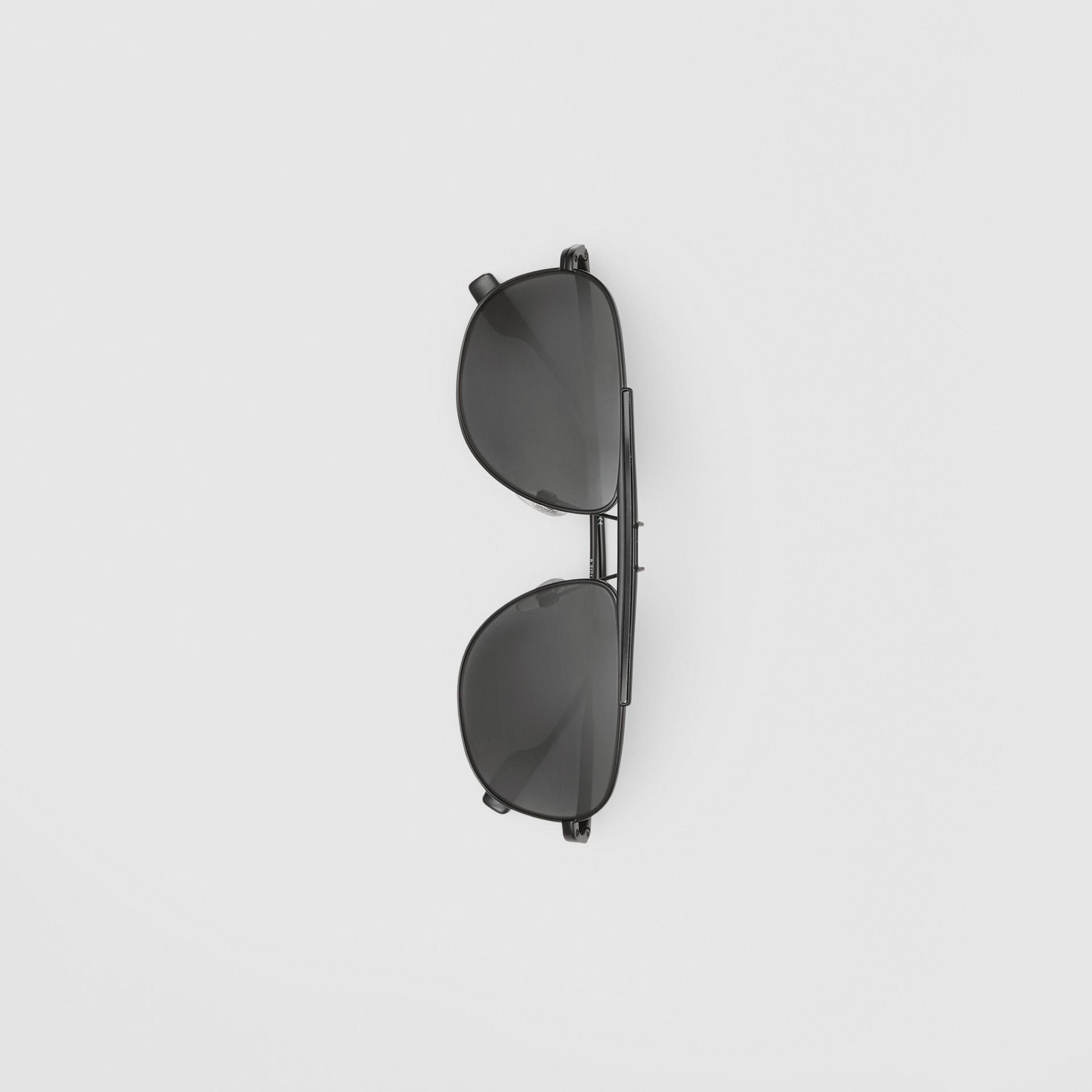 Pilot Sunglasses in Matte Black - Men | Burberry - gallery image 3