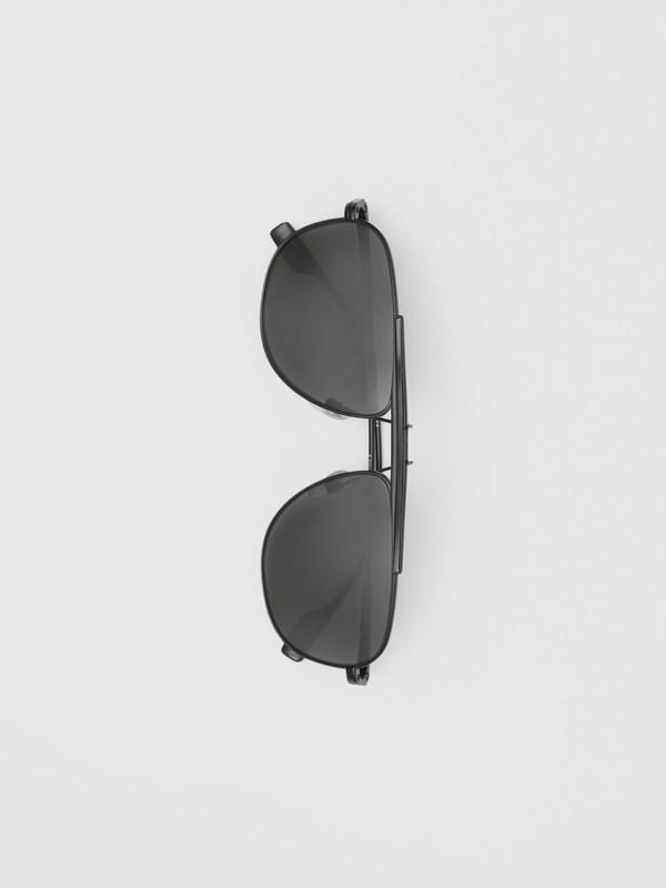 Pilot Sunglasses in Matte Black - Men | Burberry - cell image 3