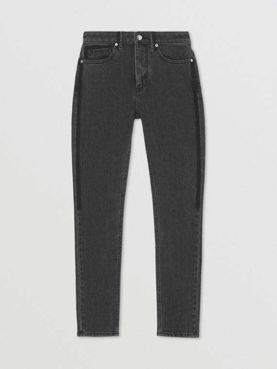 Jeans skinny in denim stretch giapponese (Grigio Medio)