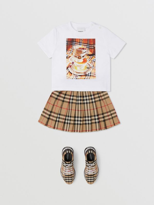 Teacup Print T-shirt in Multicolour - Children | Burberry - cell image 2