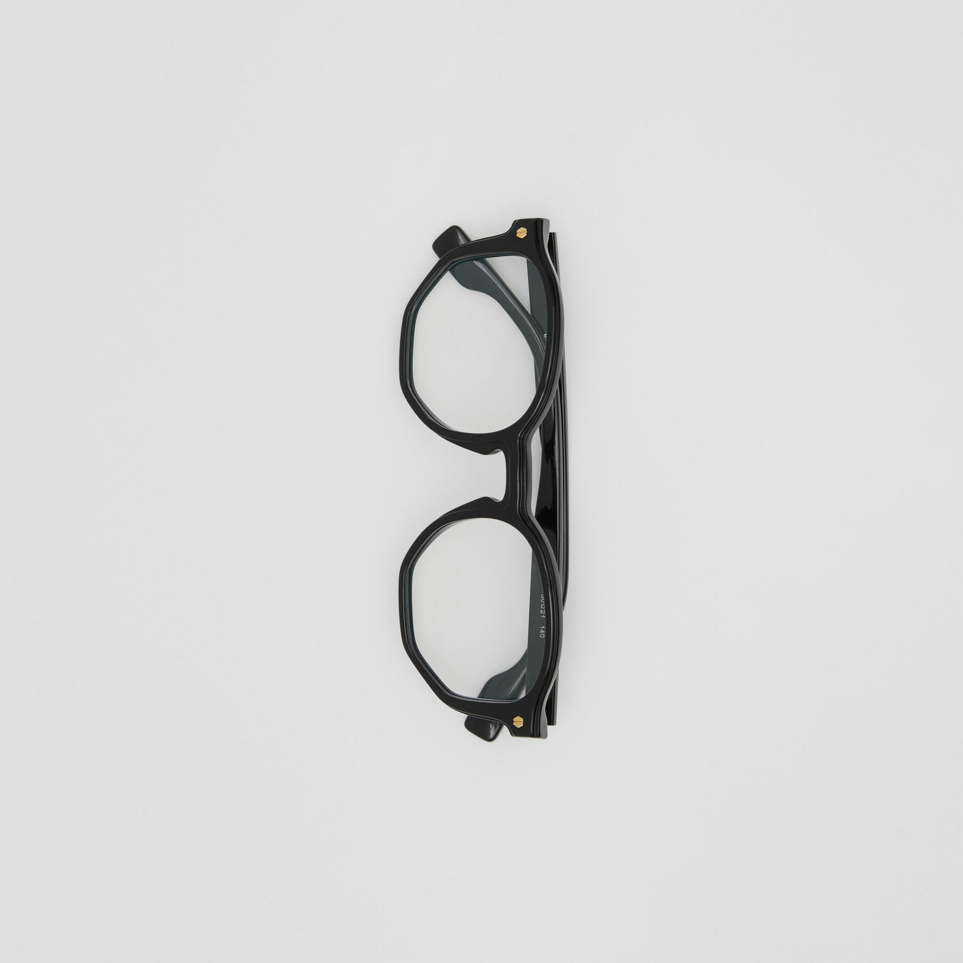 Geometric Optical Frames in Black - Women | Burberry - gallery image 3