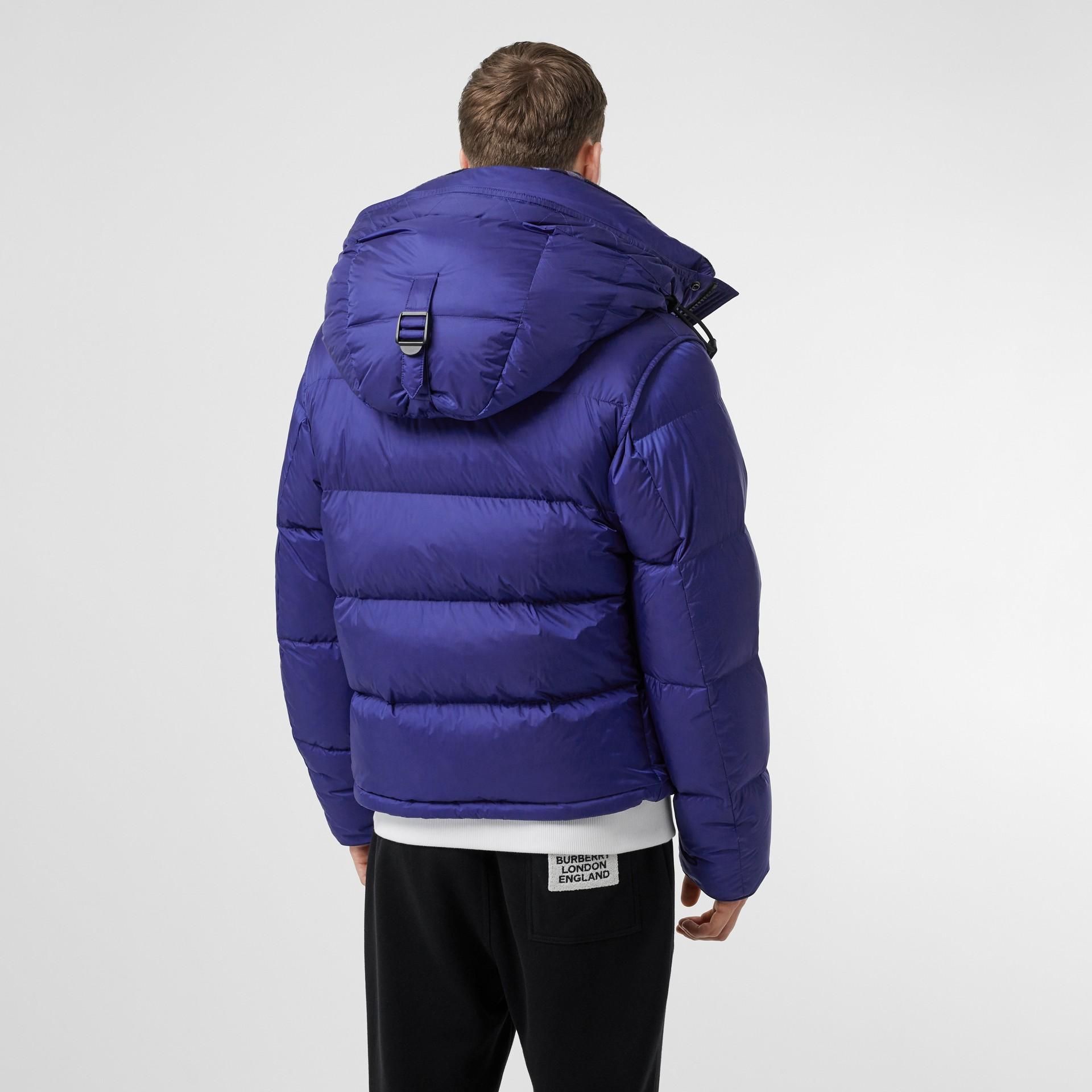 Detachable Sleeve Hooded Puffer Jacket in Dark Cobalt Blue - Men | Burberry - gallery image 2