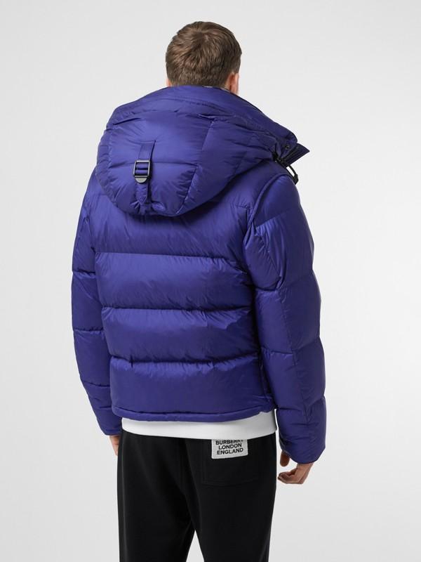 Detachable Sleeve Hooded Puffer Jacket in Dark Cobalt Blue - Men | Burberry - cell image 2