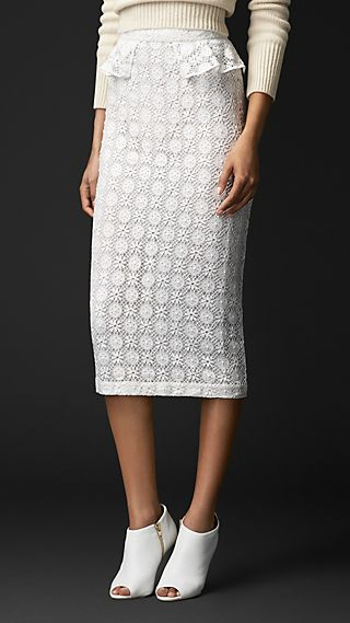 English Geometric Lace Skirt
