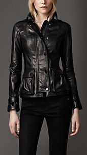 Bellow Pockets Leather Jacket