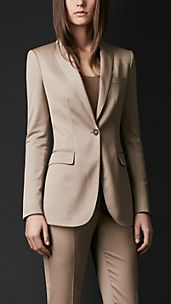 Stretch-Wool Tailored Jacket
