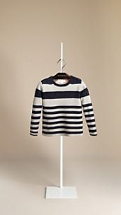 Striped Wool Linen Sweater