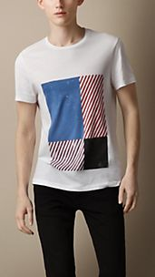 Graphic Check Print T-Shirt