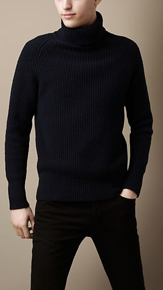 Wool Cashmere Roll Neck