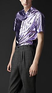Metallic Cotton Shirt