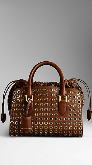 Metal Eyelet Leather Bag