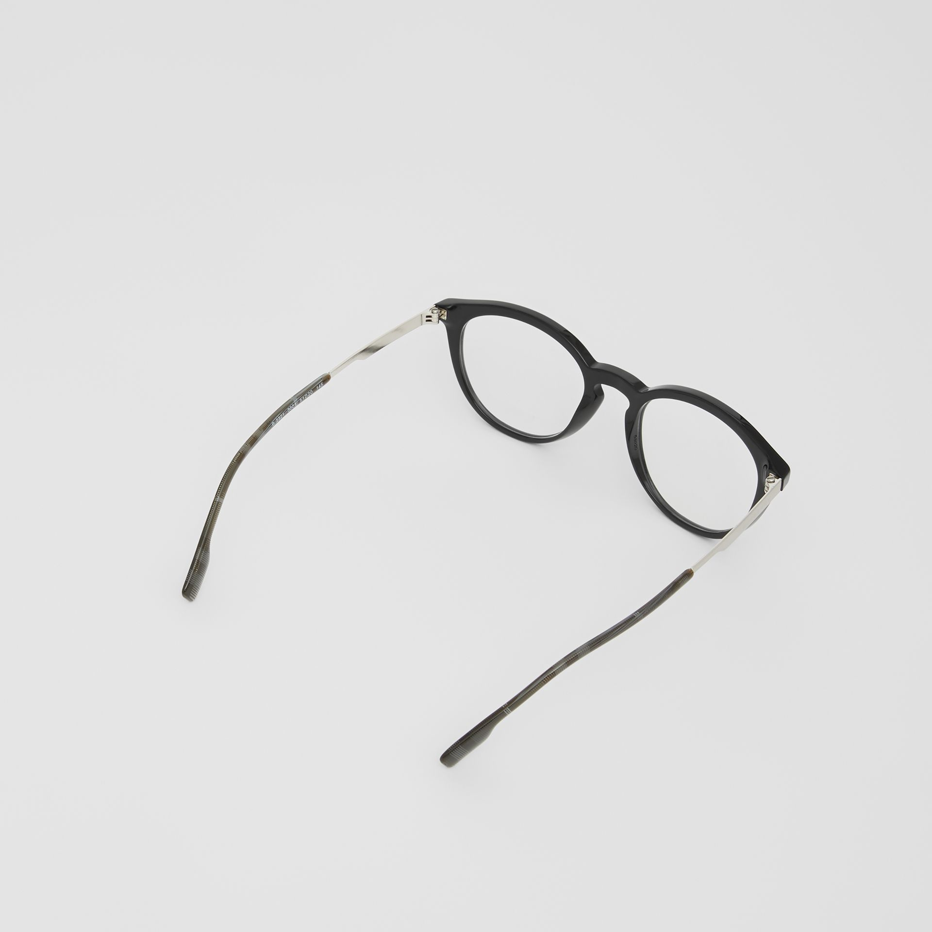 Round Optical Frames in Black - Men | Burberry - gallery image 4
