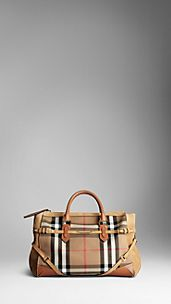 Large Bridle House Check Tote Bag