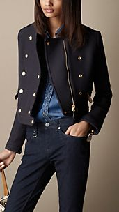 Wool Twill Military Jacket