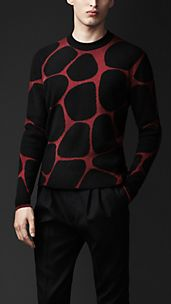 Abstract Animal Jacquard Sweater