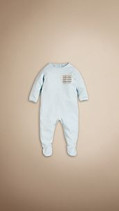 Check Pocket Detail Sleepsuit