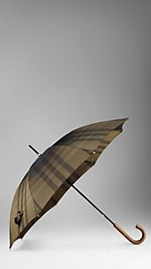 Studded Handle Metallic Check Walking Umbrella