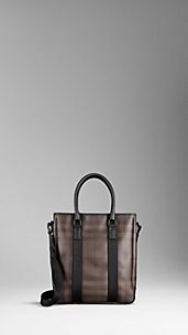 Bolso tote de checks Smoked