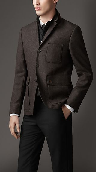 Wool Cashmere Blazer with Detachable Warmer