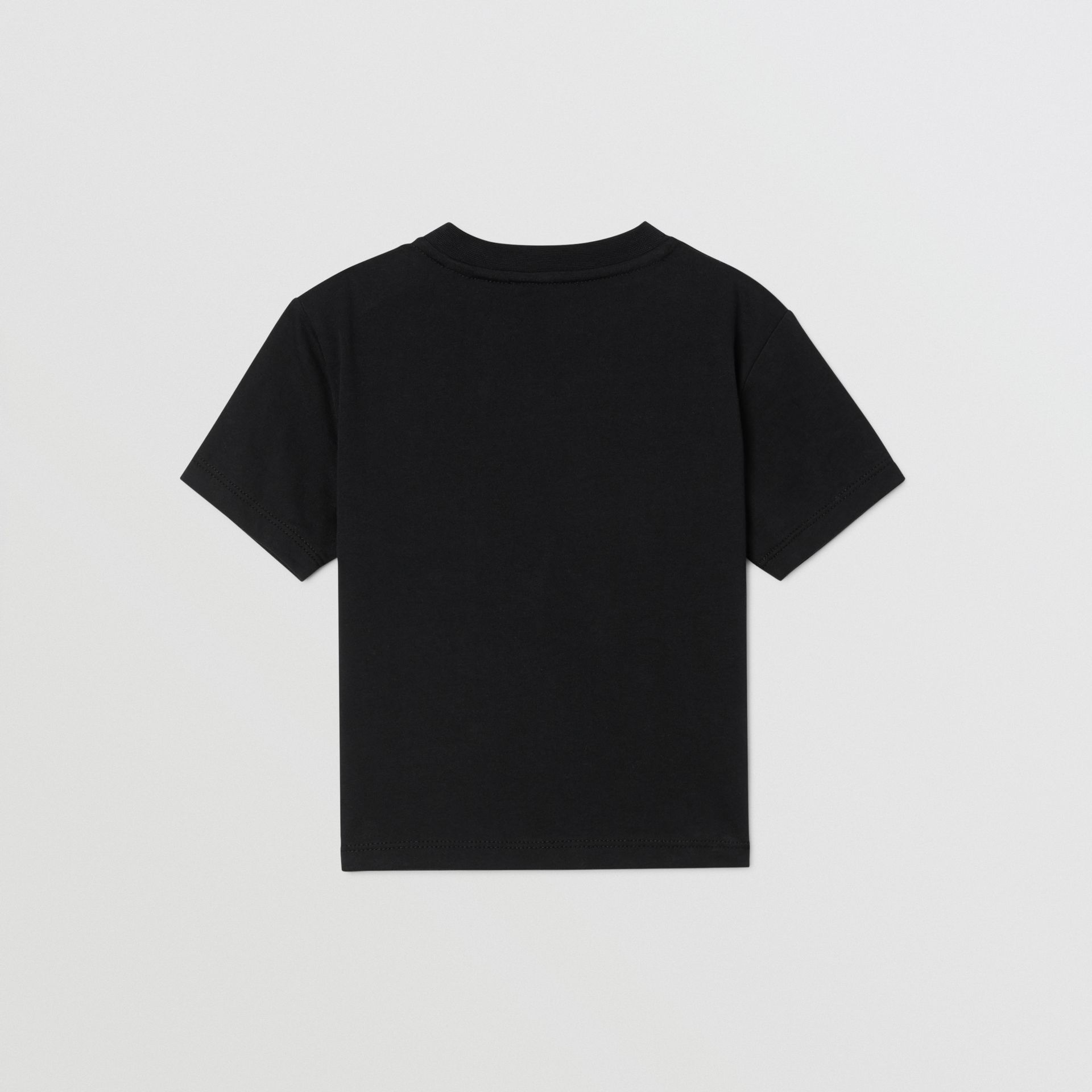 Logo Print Cotton T-shirt in Black - Children | Burberry - gallery image 4