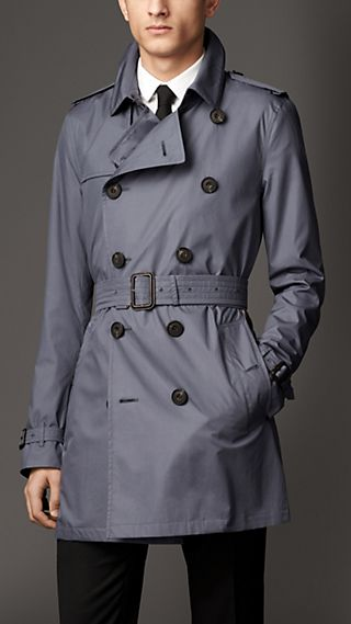 Mid-Length Lambskin Detail Parachute Cotton Trench Coat