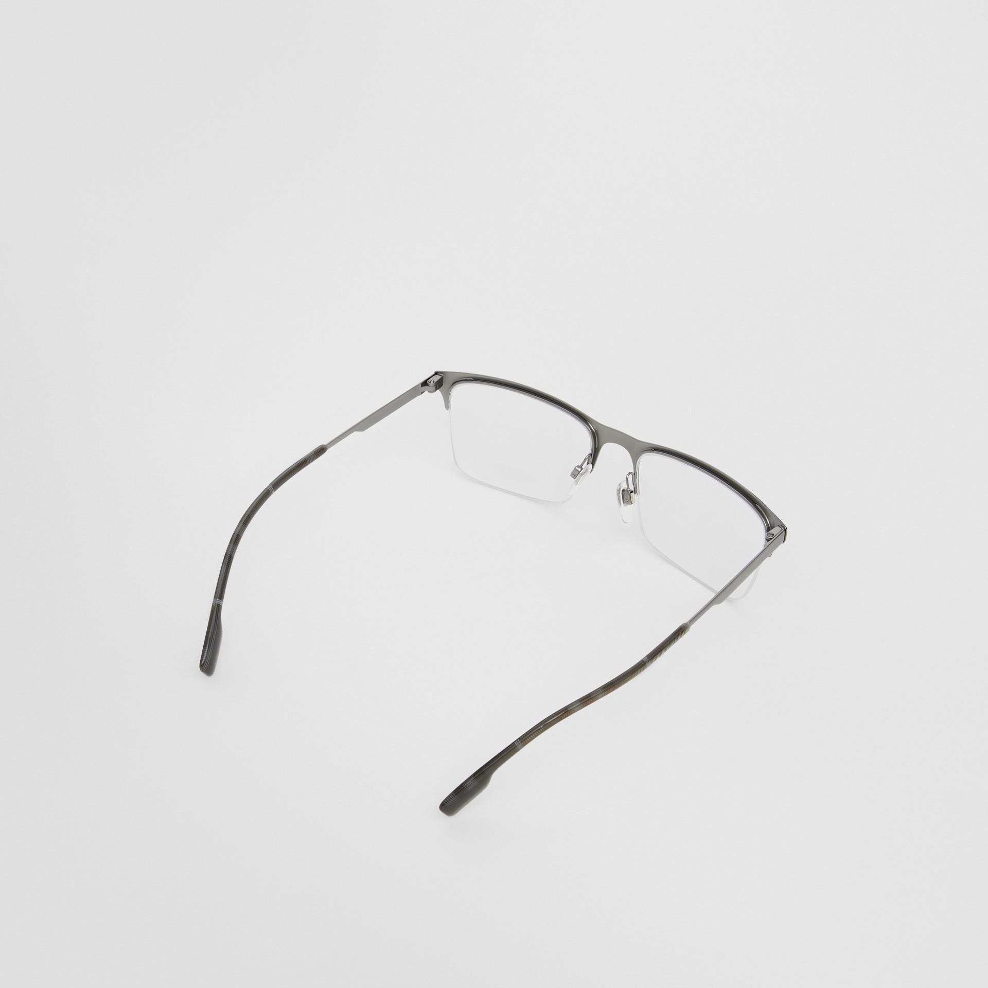 Óculos de grau com armação retangular (Preto Fosco) - Homens | Burberry - galeria de imagens 4