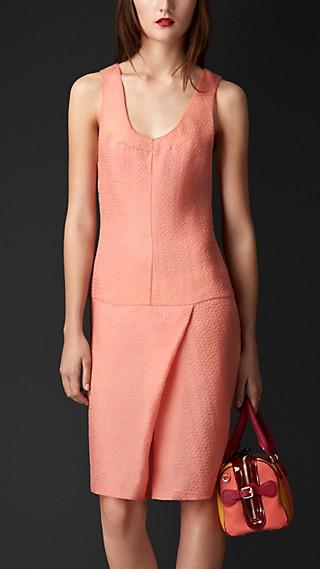 Textured Technical Silk Dress
