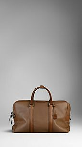 Large London Leather Holdall