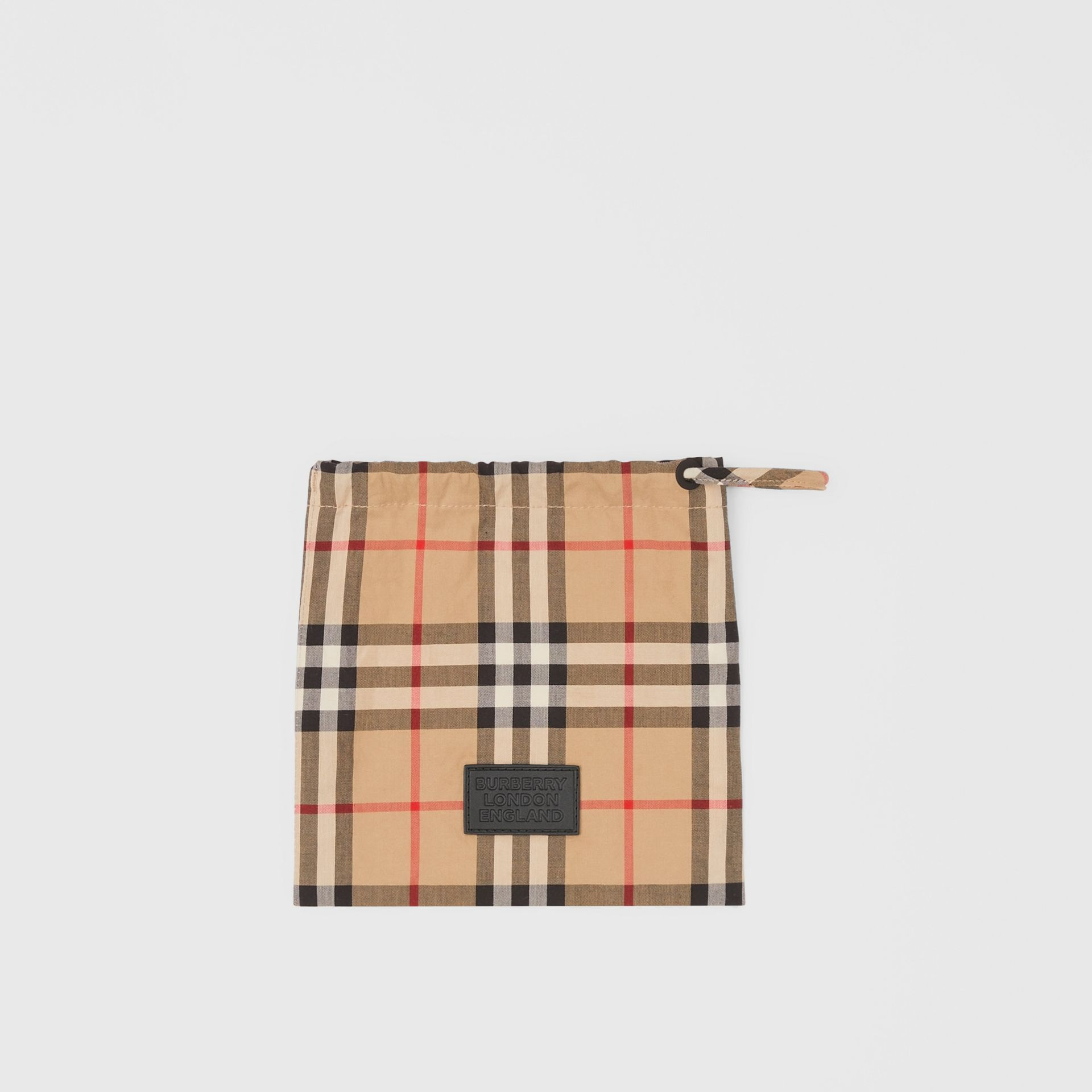 Vintage Check Cotton Face Mask in Archive Beige - Women | Burberry - gallery image 5