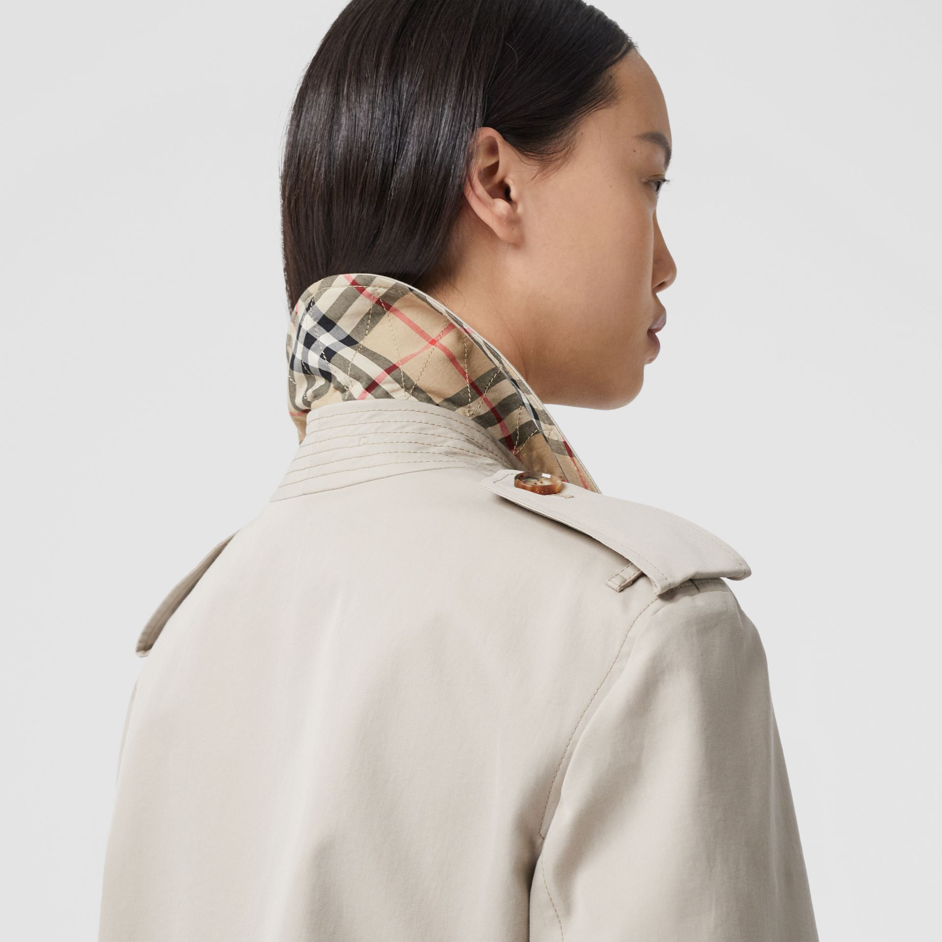 Two-tone Reconstructed Trench Coat in Light Sand - Women | Burberry United Kingdom - gallery image 3